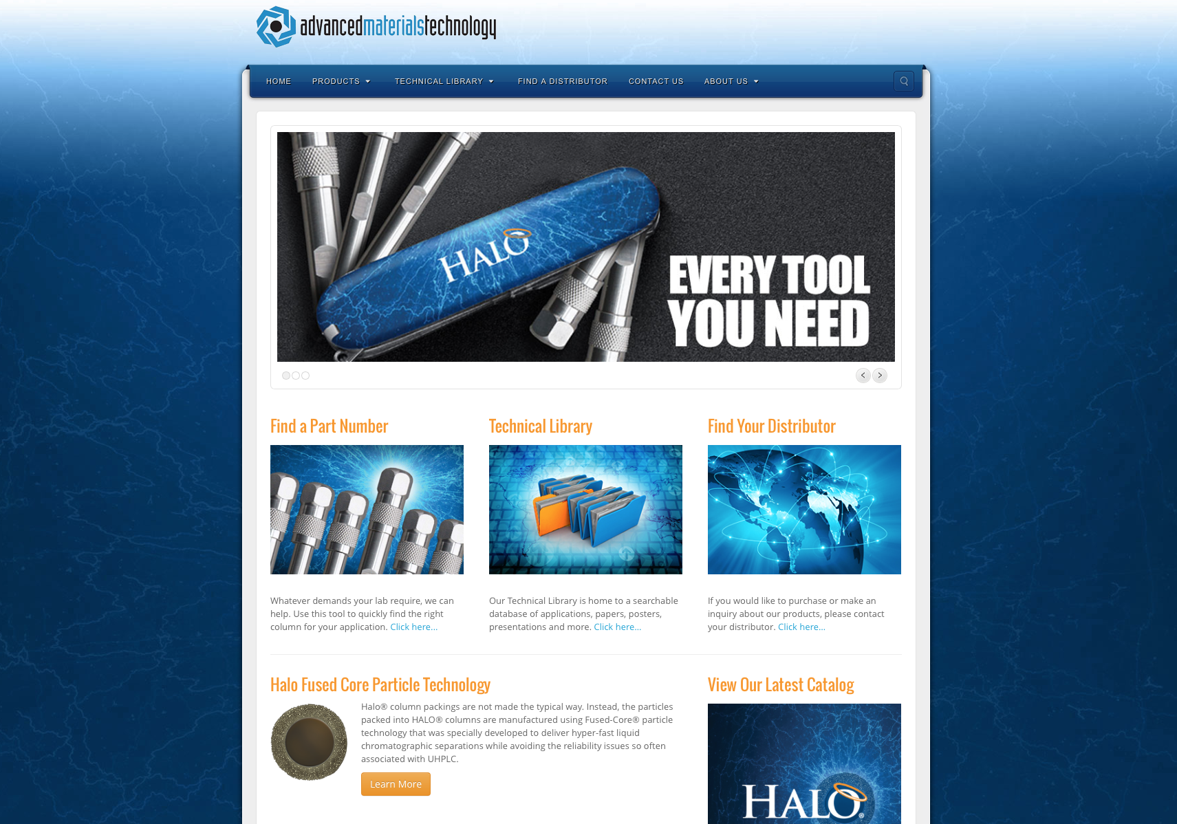 Advanced Materials Technology Website